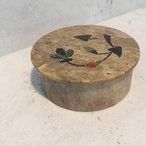 Vintage stone trinket box